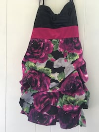 women's black and pink floral dress Fort Payne, 35967