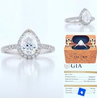 New: 18k White Gold 1.30tcw Diamond Engagement Ring Appraised $13,310