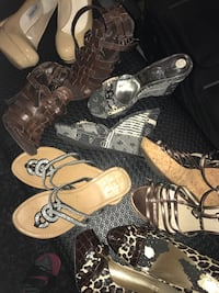 6 pairs of size 6 shoes guess, Nine West, Steve Madden, Ellen Tracy and Cupid brands all in good condition take all for $40 or $10 each pair Abbotsford, V4X