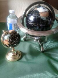 Unique Art Lapis Ocean Table Top Gemstone World Globe .