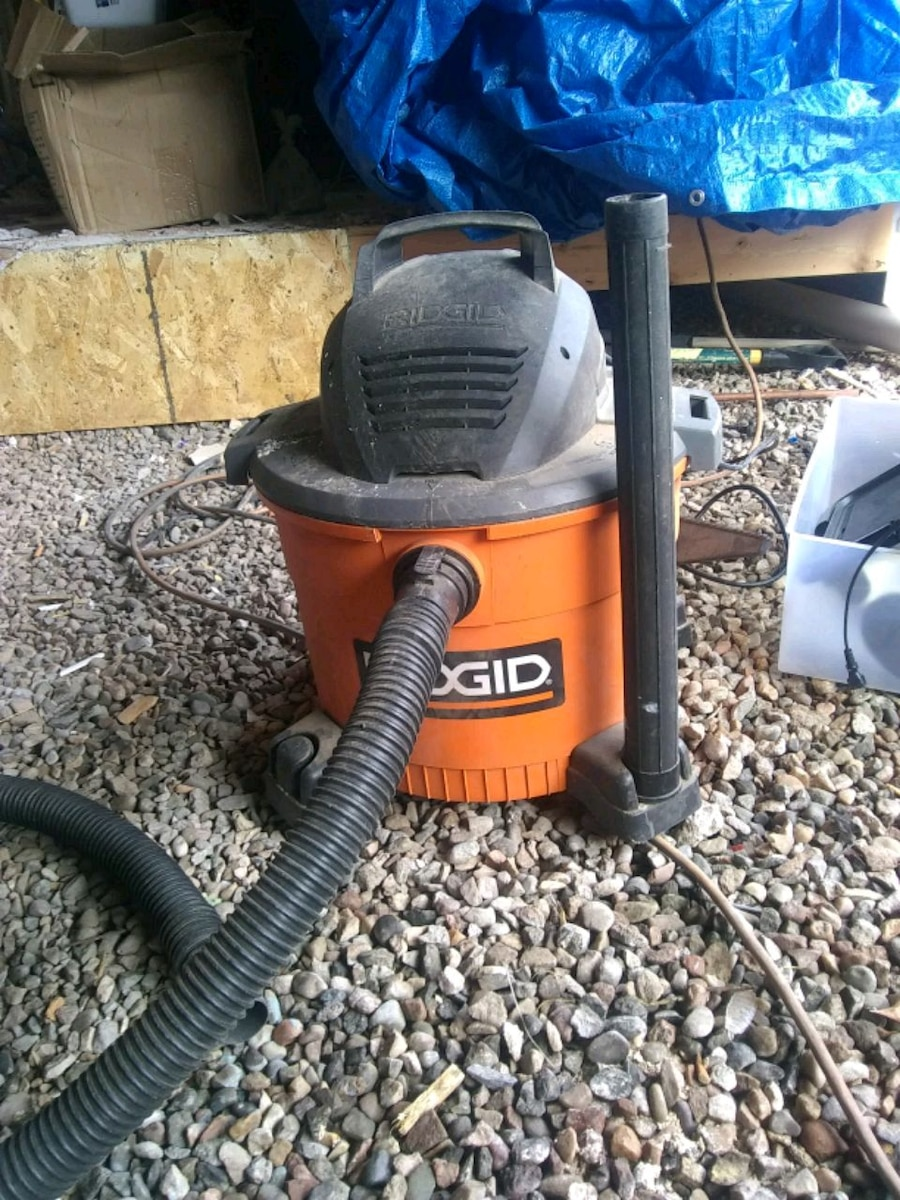 orange and black Ridgid wet and dry vacuum cleaner for sale  Edwards