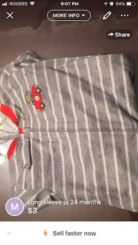 gray and white stripe polo shirt Montréal, H1R 1M6