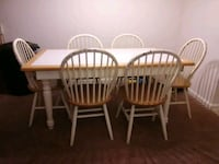 three brown wooden windsor chairs Mooresville, 28117
