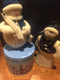 Decorative Snowmen and Tin