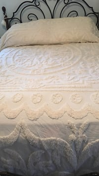 Chenille ivory bedspread king size and one pillow sham not pictured  Fairfax, 22032