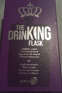 """Drinking flask """"i would stop drinking but I'm not quitter"""" Cambridge, N1R 8M5"""