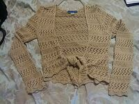brown knitted cardigan Bristol, 37620