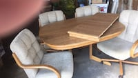 dinning room set with four padded chairs and a lg  leif.  Spokane, 99207