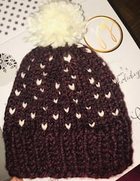 Heart knit hats made to order Oakville, L6J 3N3