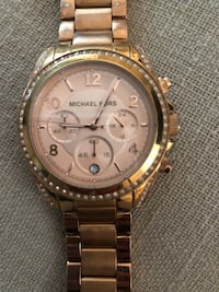 Woman's Rose Gold Michael Kors watch- round chronograph  Little Falls, 13365