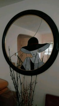 TODAY ONLY! round black framed mirror South Euclid, 44121