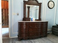 brown wooden dresser with mirror Irving, 75061