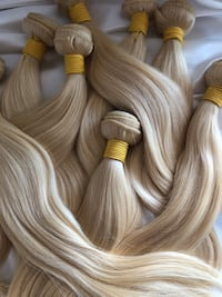 Blonde Human Hair Weft Extensions