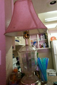 brown wooden base with pink lampshade table lamp Reno, 89502