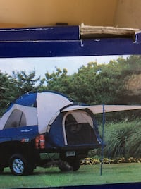Blue and white camping tent Parksville, V9P 2L4