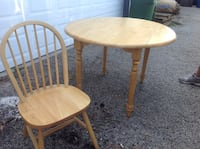round beige wooden table and windsor chair San Antonio, 78230