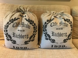 NEW Flour sack pillows:  Pair of brand new sack pillows!  non-smoking