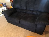 Black Suede Sofa great condition Austin, 78735