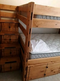 Full Size Bunk beds with mattresses