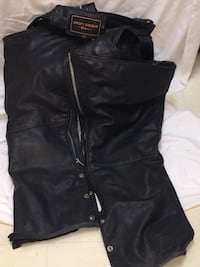 Black leather Iron Gear men's chaps Coquitlam, V3J 1S4