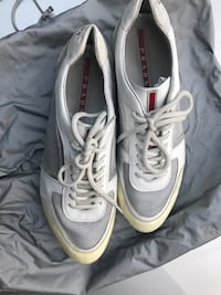 Prada white and grey men's sneaker