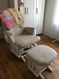 gray and white glider chair Lafayette, 80026