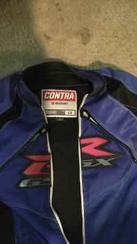 black and blue Contro Suzuki racing jacket Glen Burnie, 21061