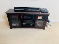 Cherry wood wooden tv stand Sterling, 20166