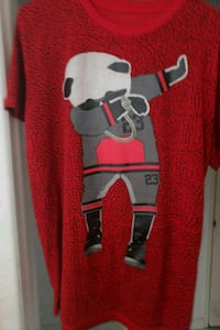 red and gray Mickey Mouse print sweater 2278 mi