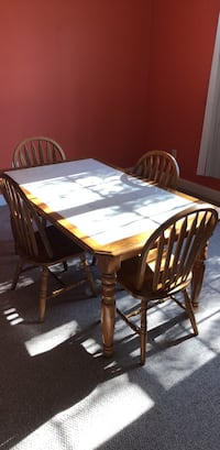 rectangular brown wooden table with six chairs dining set Pennsburg, 18073