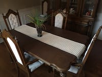 Solid Wood Table & Chairs Set with Solid Wood Buffet Hamilton, L0R 1W0