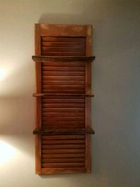 Decorative shutter with3 barnwood shelves  Constantia, 13044
