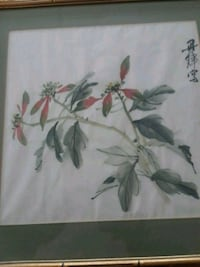 white and green floral painting Annandale, 22003