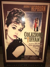 Audrey Hepburn Breakfast at Tiffany's vintage movie poster  Burlington, L7P 0K2