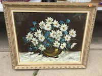 brown wooden framed painting of flowers Arlington Heights