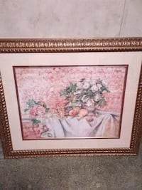 white and red flowers painting Toney, 35773