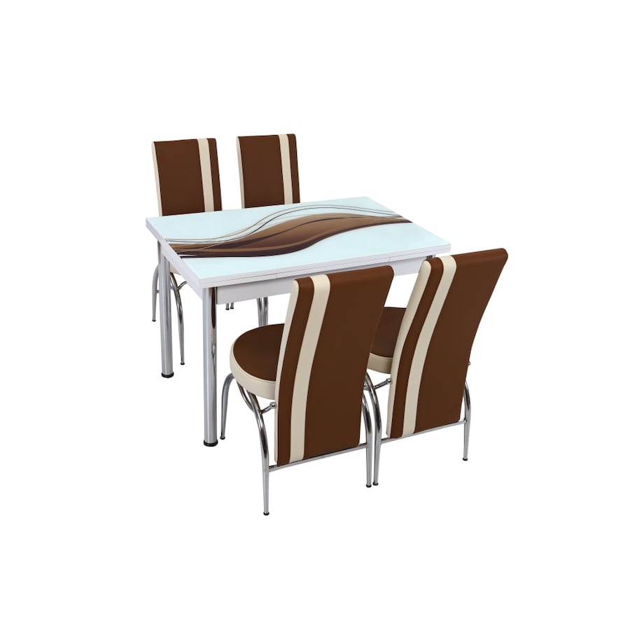 NEW DELUXE 5 PCS KITCHEN TABLE SET CAN BE EXTENDED
