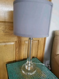 Modern lamp with clear base