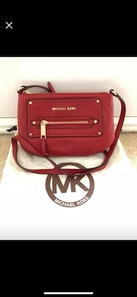 Red leather michael kors sling bag Frederick, 21702