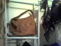 brown leather 2-way handbag Edmonton