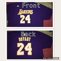 LOS ANGELES LAKERS KOBE BRYANT T-SHIRT #8 FOR ADULT (SIZE 2X) Ewa Gentry, 96706