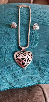 Brighton Heart Necklace and Earrings