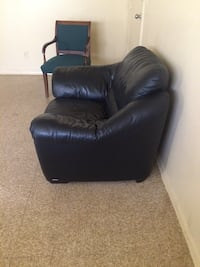 black leather sofa chair with ottoman Newport News, 23602