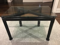 Metal television stand with glass shelving   Bolton, L7E 1C8