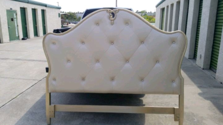 Photo Jessica McClintock King Headboard, sells new for $1,800