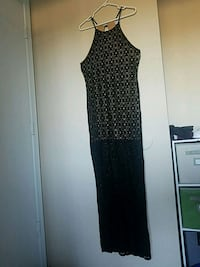 Long Black Dress w Beige Inner Dress (Size L) Tempe, 85282