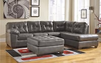 Grey Leather Sectional Couch Vernon Hills, 60061