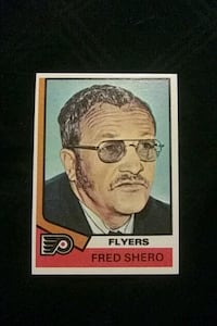 1974 TOPPS PHILADELPHIA FLYERS FRED. SHERO HOCKEY CARD EXCELLENT COND.
