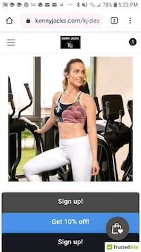 Kj designed ladies active wear