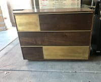 Gold Wood 3 Drawer Chest/Dresser Las Vegas, 89141